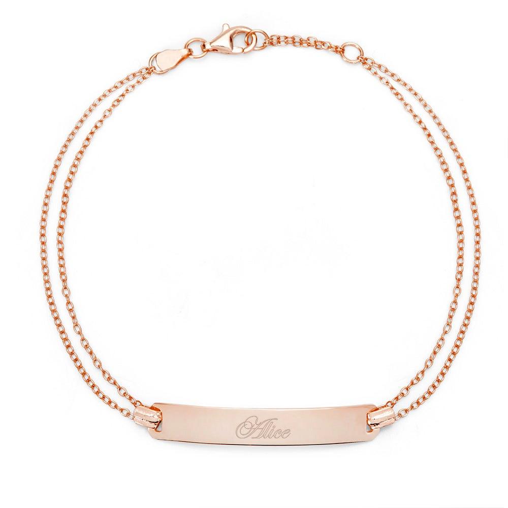 Name Bar Rose Gold Bracelet