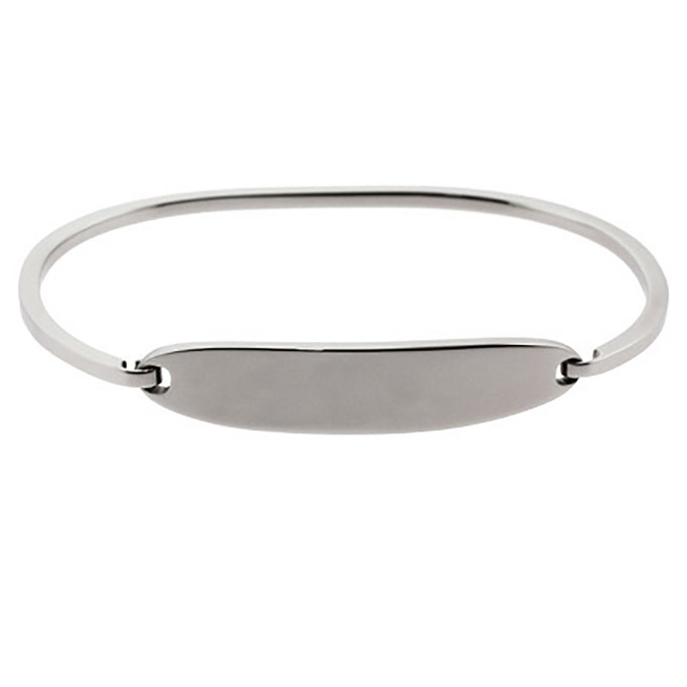 kors bangle hinged michael silver jewelry gallery bracelets in oval product bracelet bangles lyst metallic thin