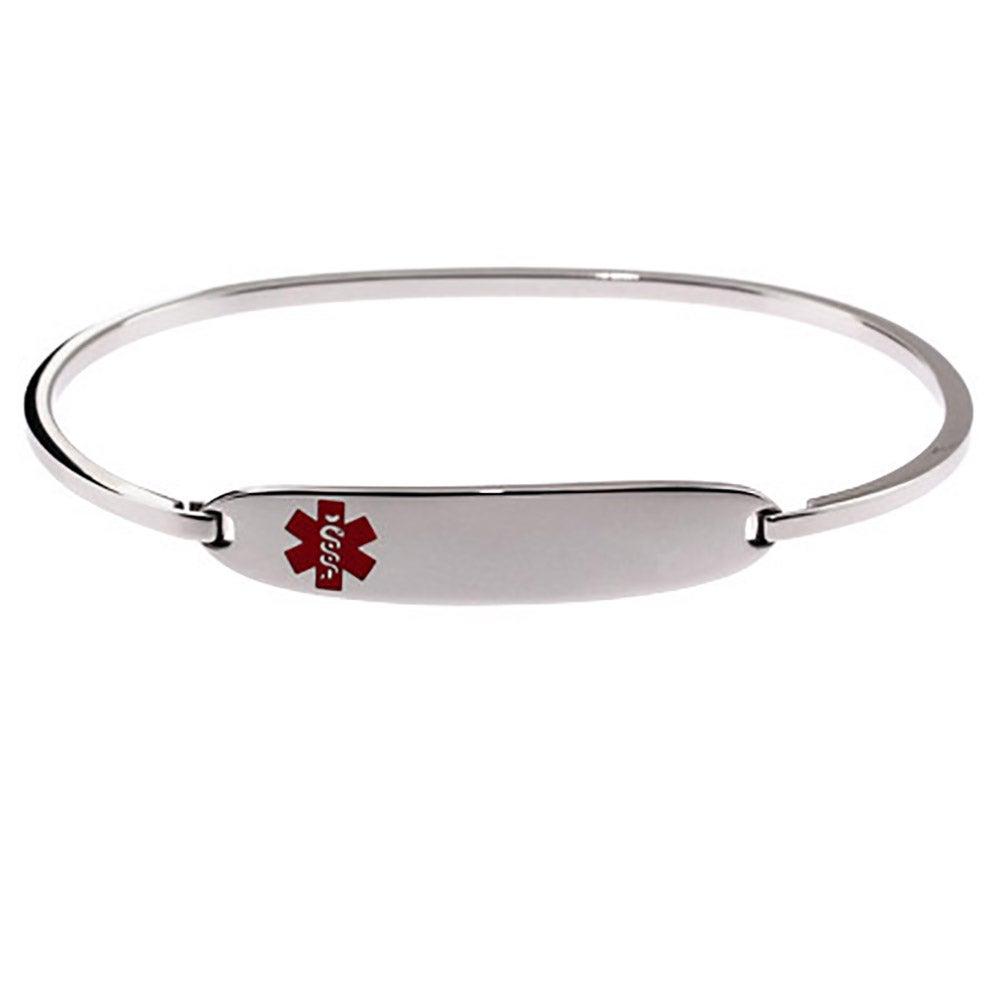 engravable medical id bangle bracelet eves addiction174