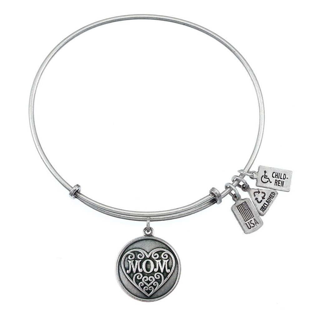mom bling jewelry fits silver compatible charm pandora bangle mum heart bracelet bangles mother
