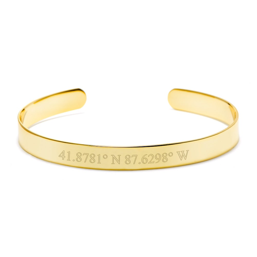 bracelet modern products longitude bazaar personalized coordinate the latitude