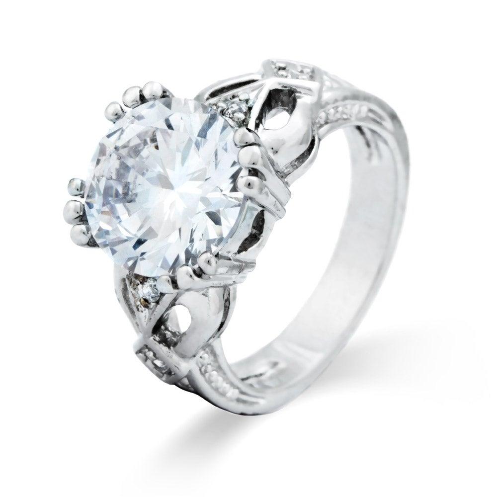 open 7 carat brilliant cut engagement ring s