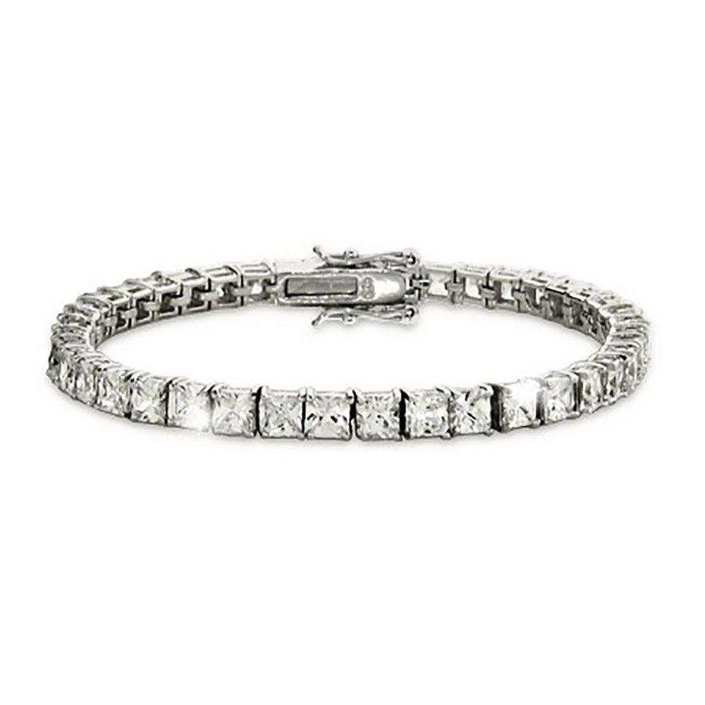 Princess Cut Diamond 4mm Cz Tennis Bracelet