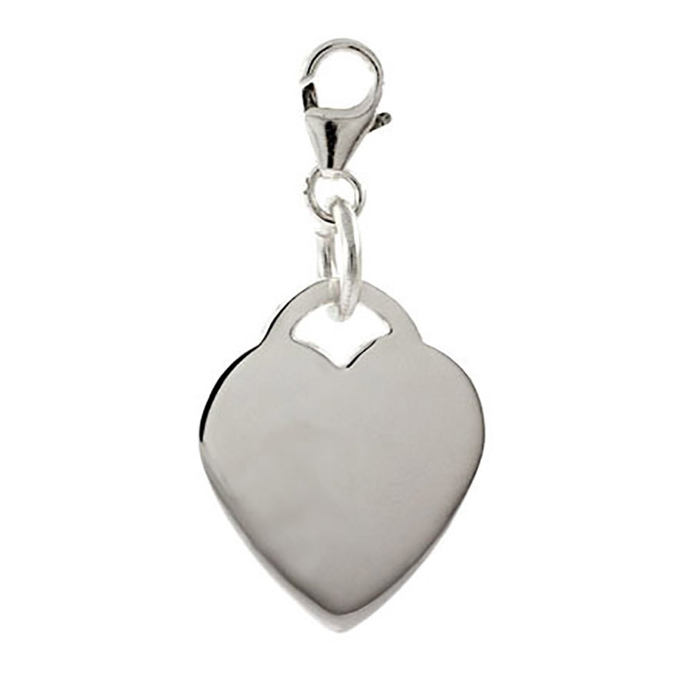 sterling silver engravable tag charm s addiction 174