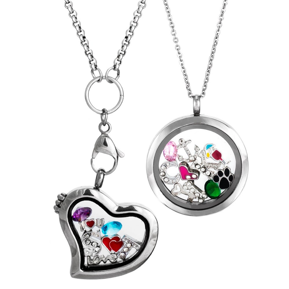 charm necklace cute jewelry lockets designs hill glass floating south orig picture