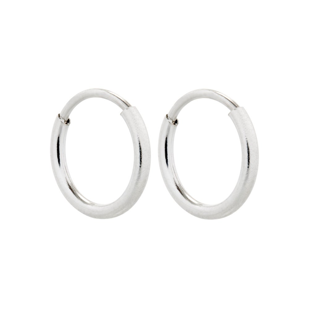 sterling silver image rounded hoop jewellery earrings hinged chunky
