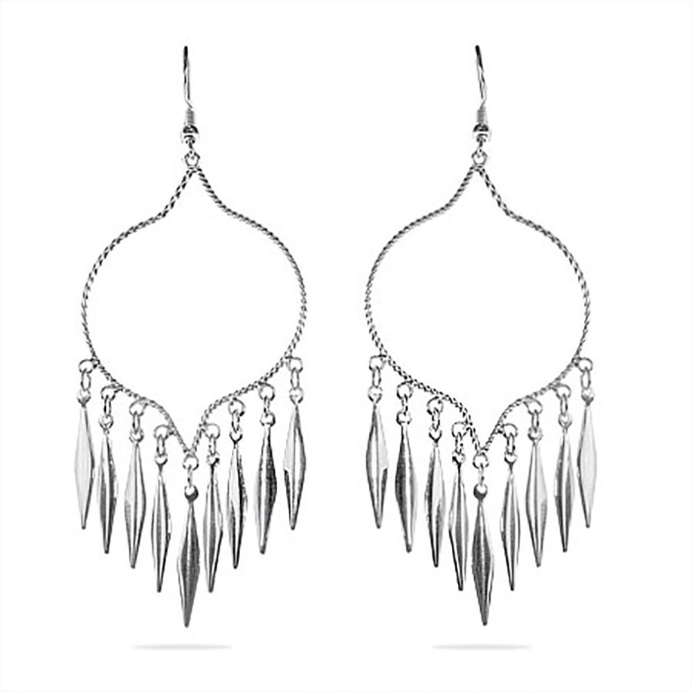 Style sterling silver chandelier earrings eves addiction western style sterling silver chandelier earrings aloadofball Gallery