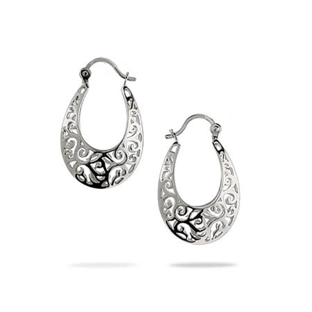 silver earrings in filigree gold products spo