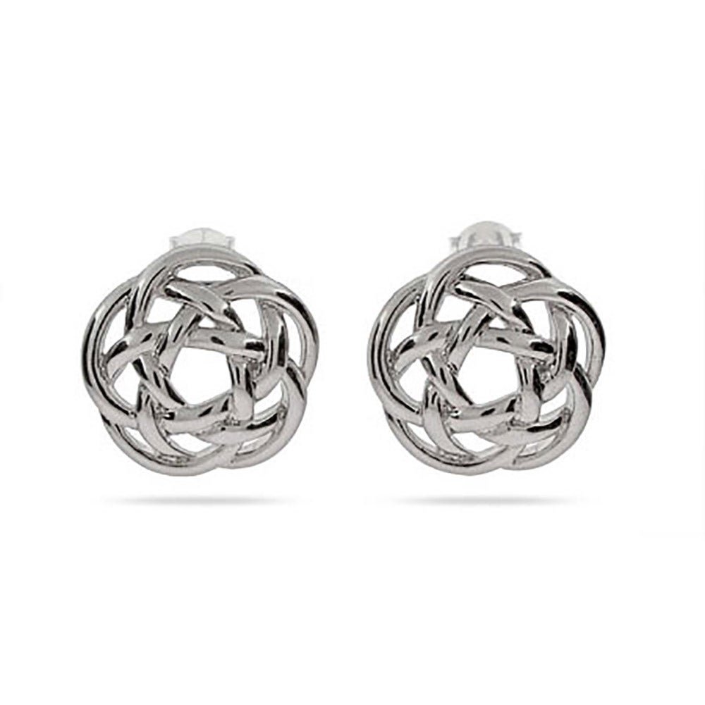and knot product diamond earrings celtic silver sterling