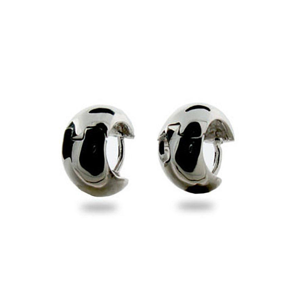 Simple Wide Sterling Silver Mens Earrings