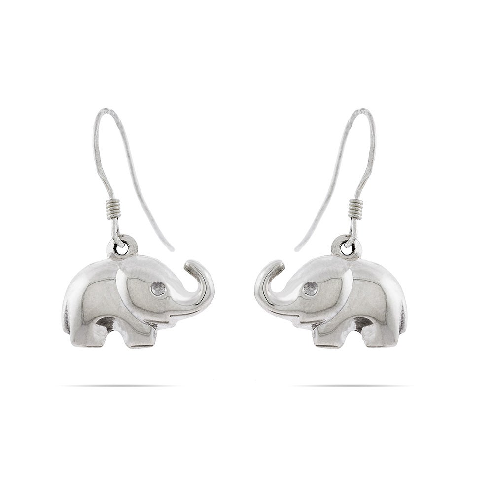 elephant sterling s earrings silver dangle eve addiction