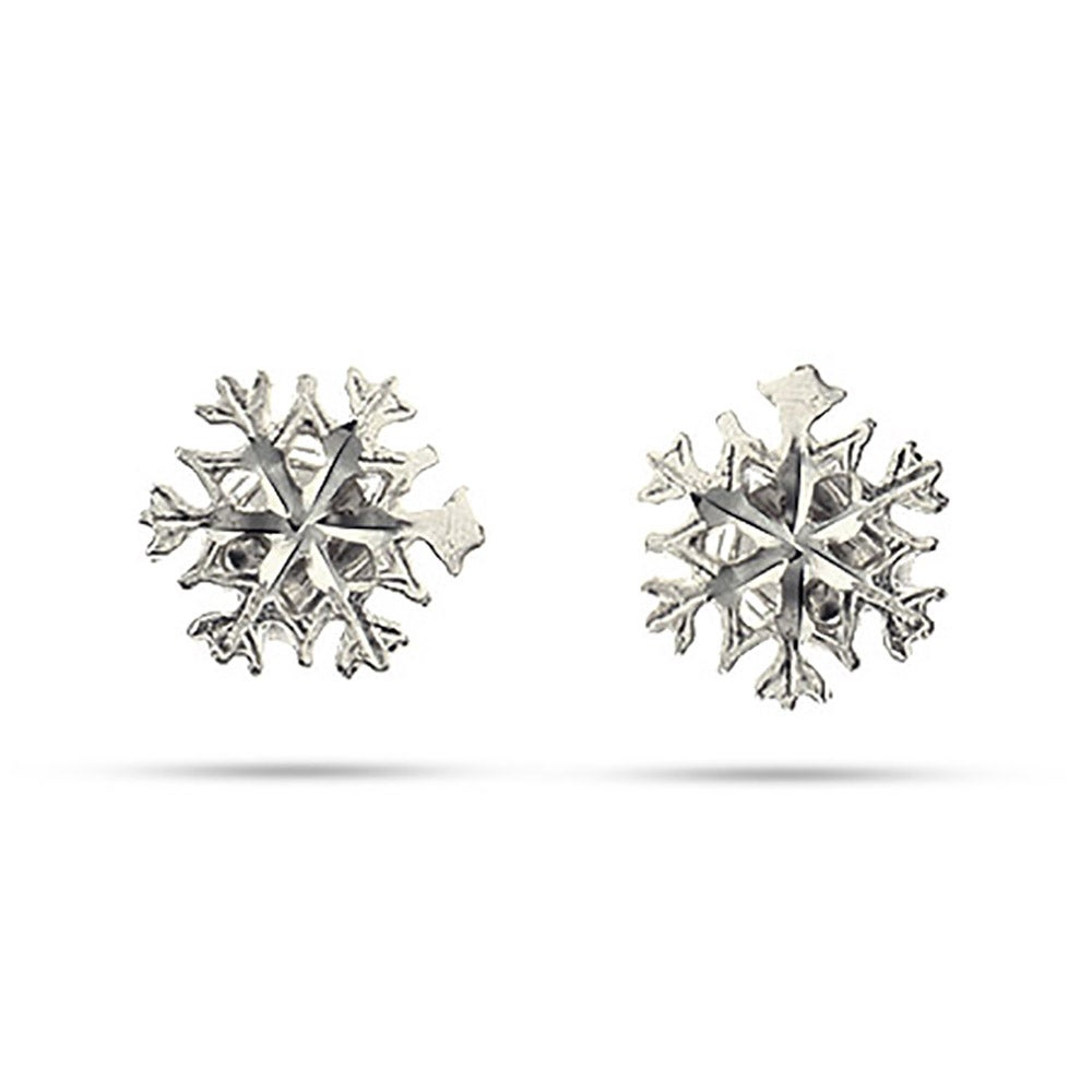Sterling Silver Snowflake Stud Earrings Eve S Addiction