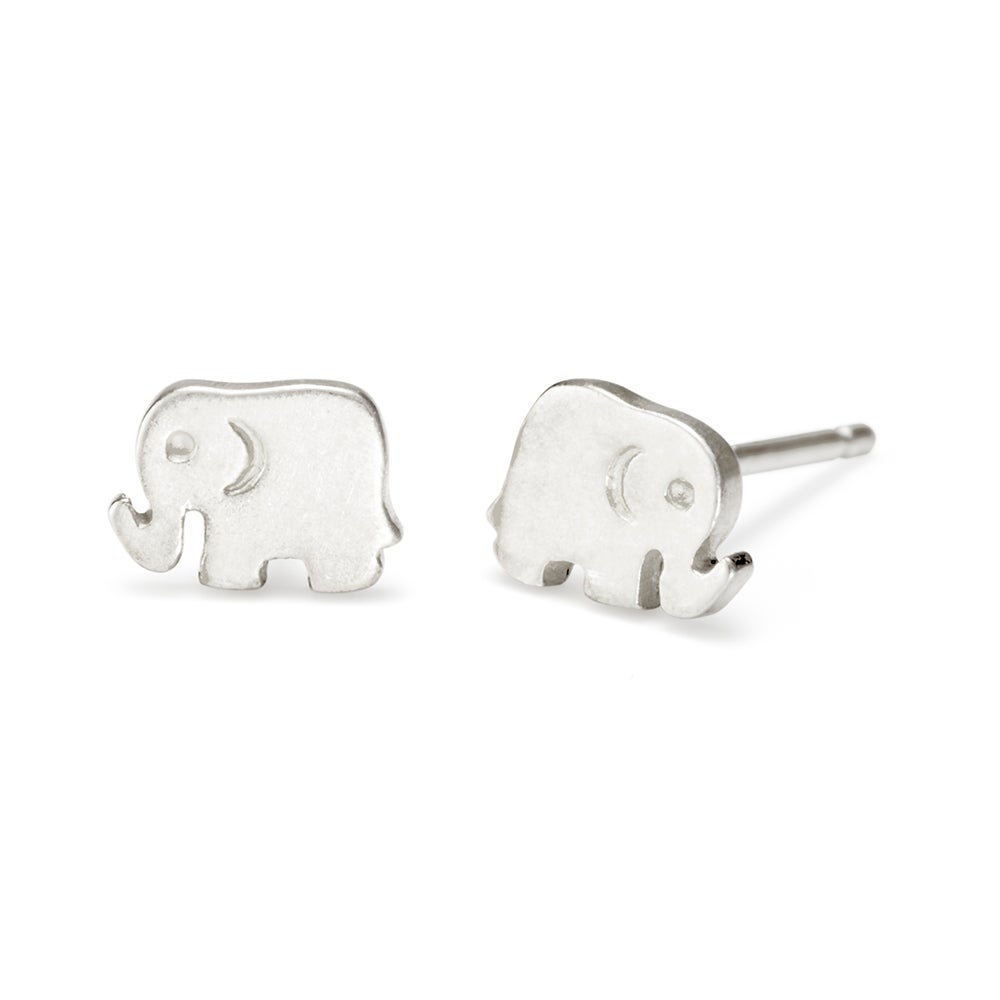 shaped split organic diamond elephant of mie gold products no white karat w raw slices noemie rose earrings