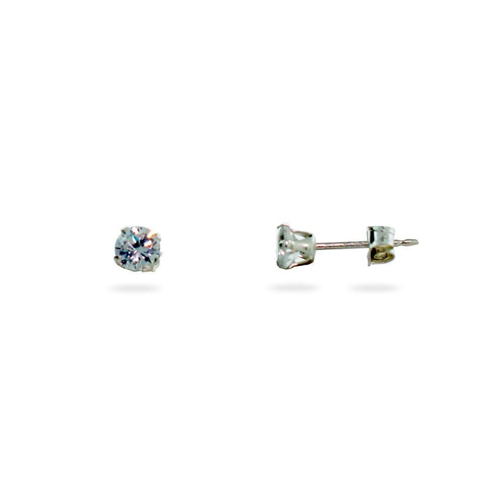 62b8f6c86 4mm Diamond Cubic Zirconia Stud Earrings