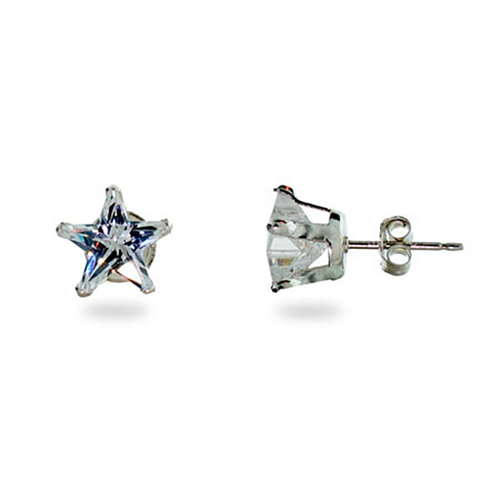 zirconia white earrings rose top prong products fashion cz multi plated stud prongs gold jewelry quality diamond grande