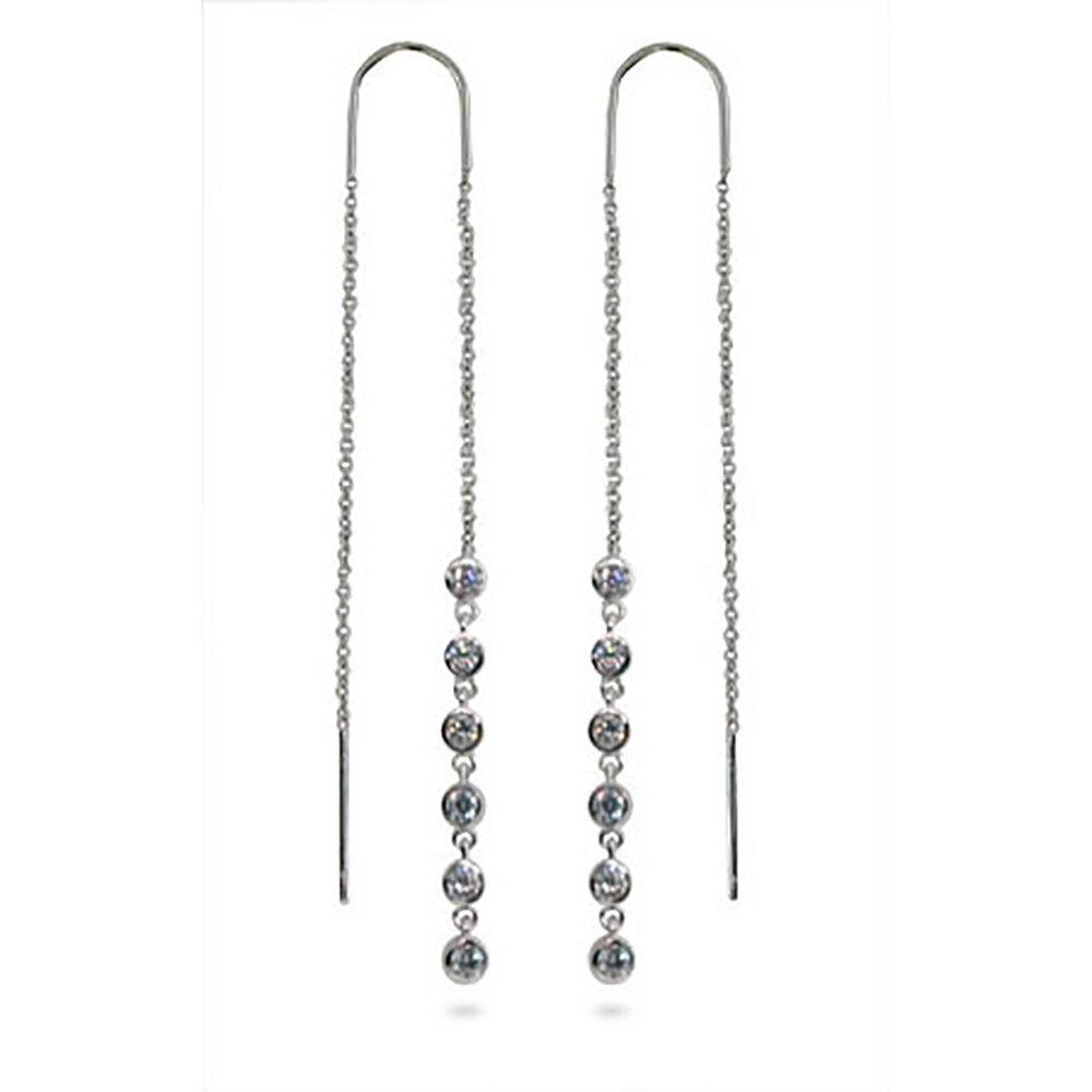 Designer Style Jazz Bubble Threader Earrings