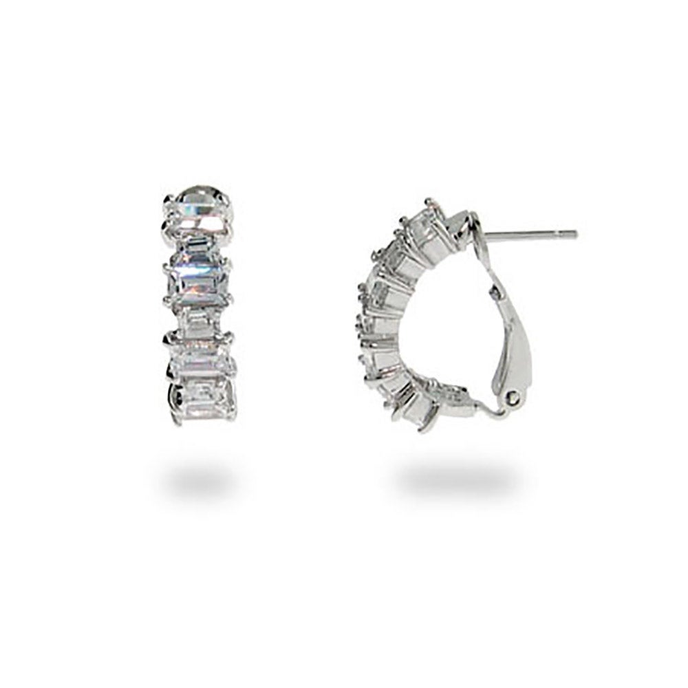 earrings susannah clip baguette set from diamond platinum image