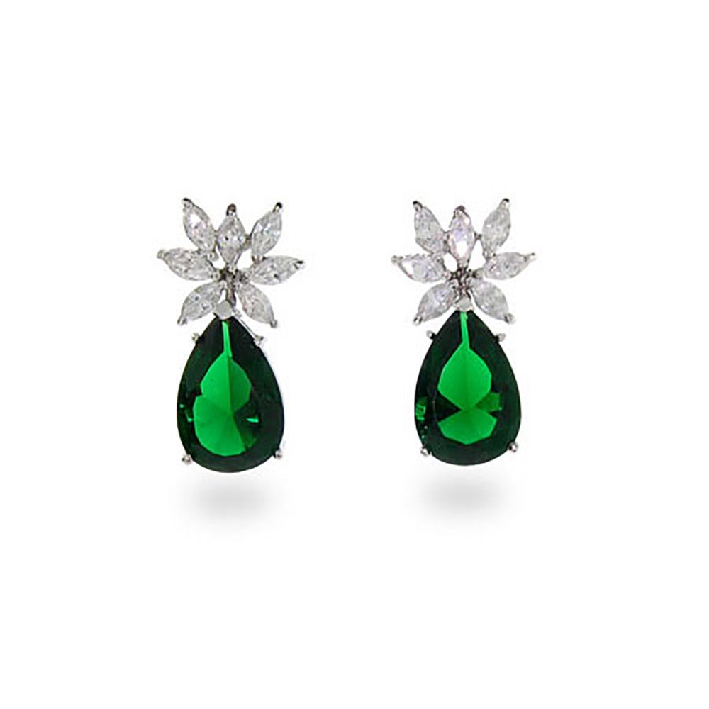 edizione ultima en earrings color rectangular emerald