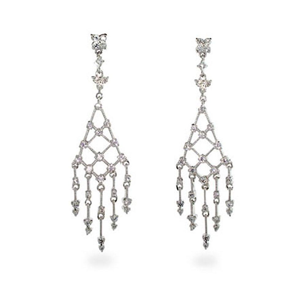 cc6ae669b Diamond CZ Drop Chandelier Earrings | Eve's Addiction®