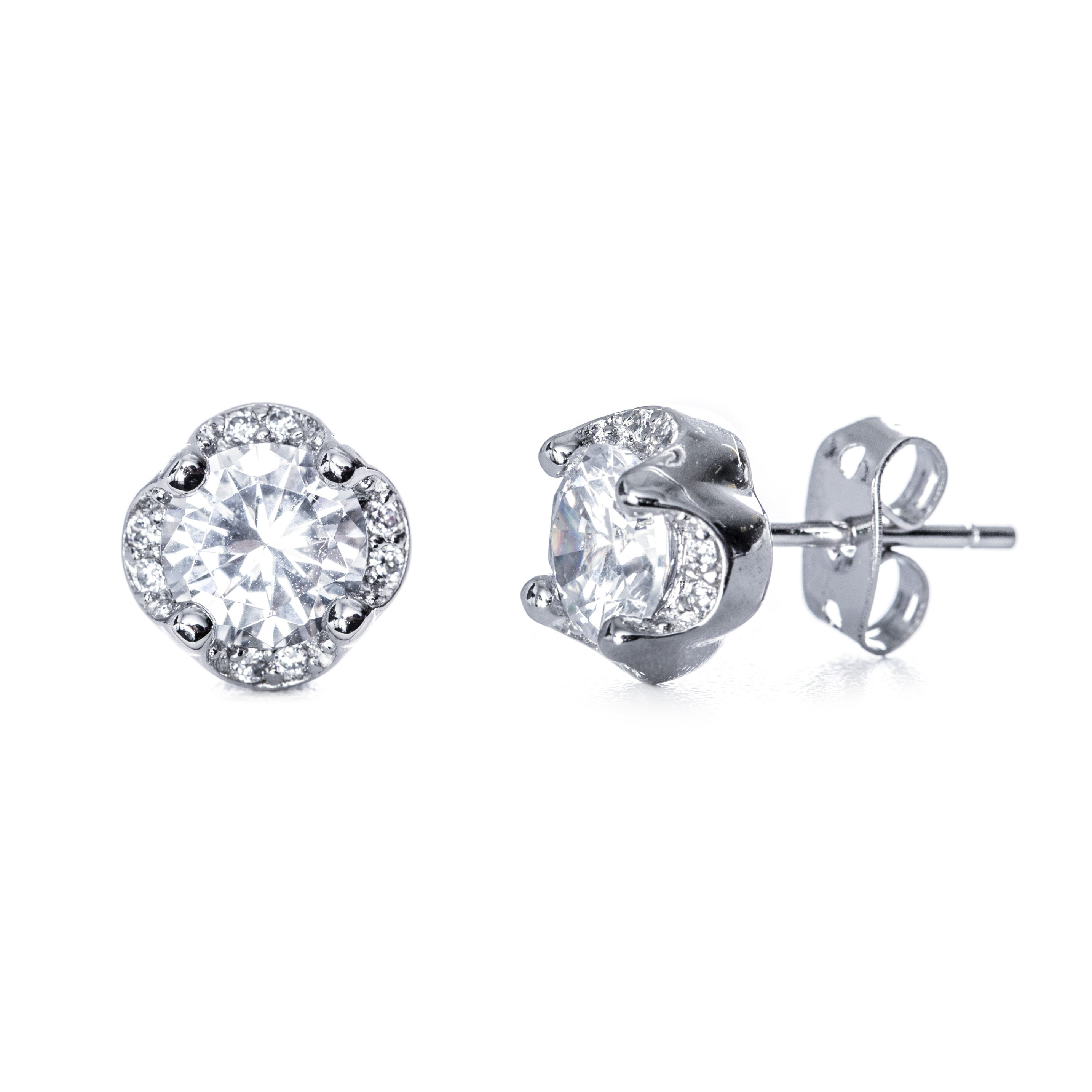 clover earrings studs clover cz stud earrings s addiction 174 3078