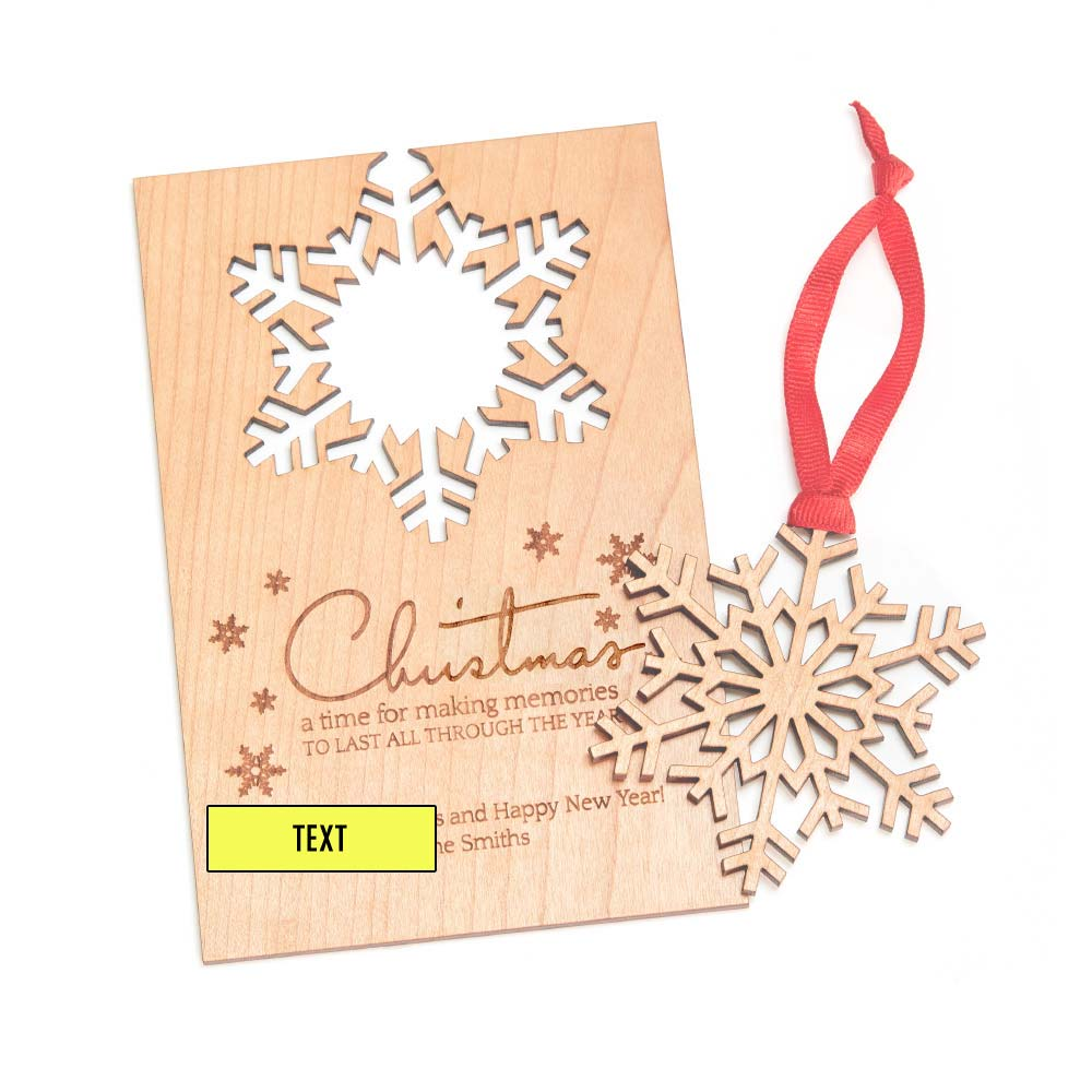 Personalized Wooden Christmas Card With Detachable