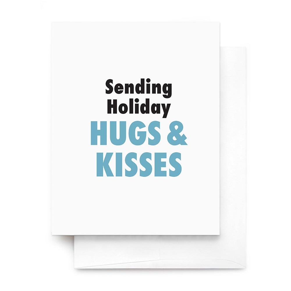 Holiday hugs kisses greeting card m4hsunfo