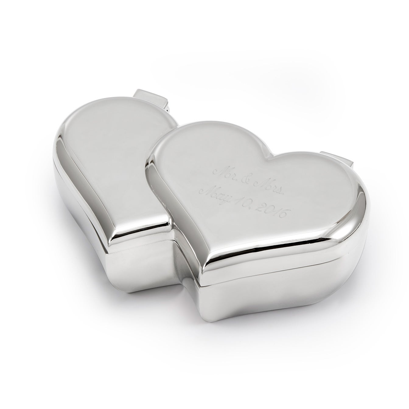 Heart engravable engagement ring box eve 39 s addiction for Heart ring box