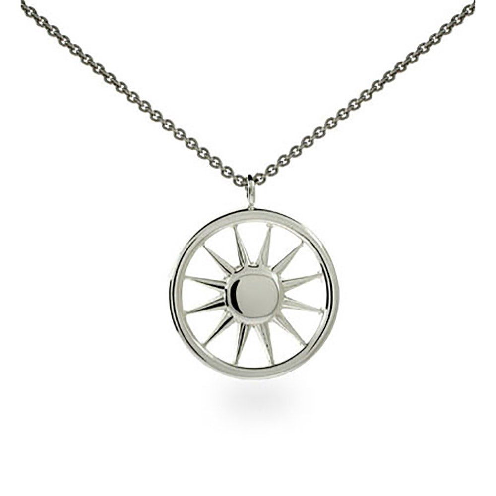 Style sterling silver sun pendant eves addiction designer style sterling silver sun pendant mozeypictures Images