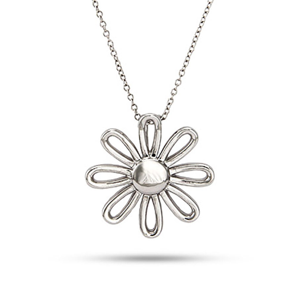 silver rhodinated enamel necklaces image daisy white georg sterling jewellery jensen pendant