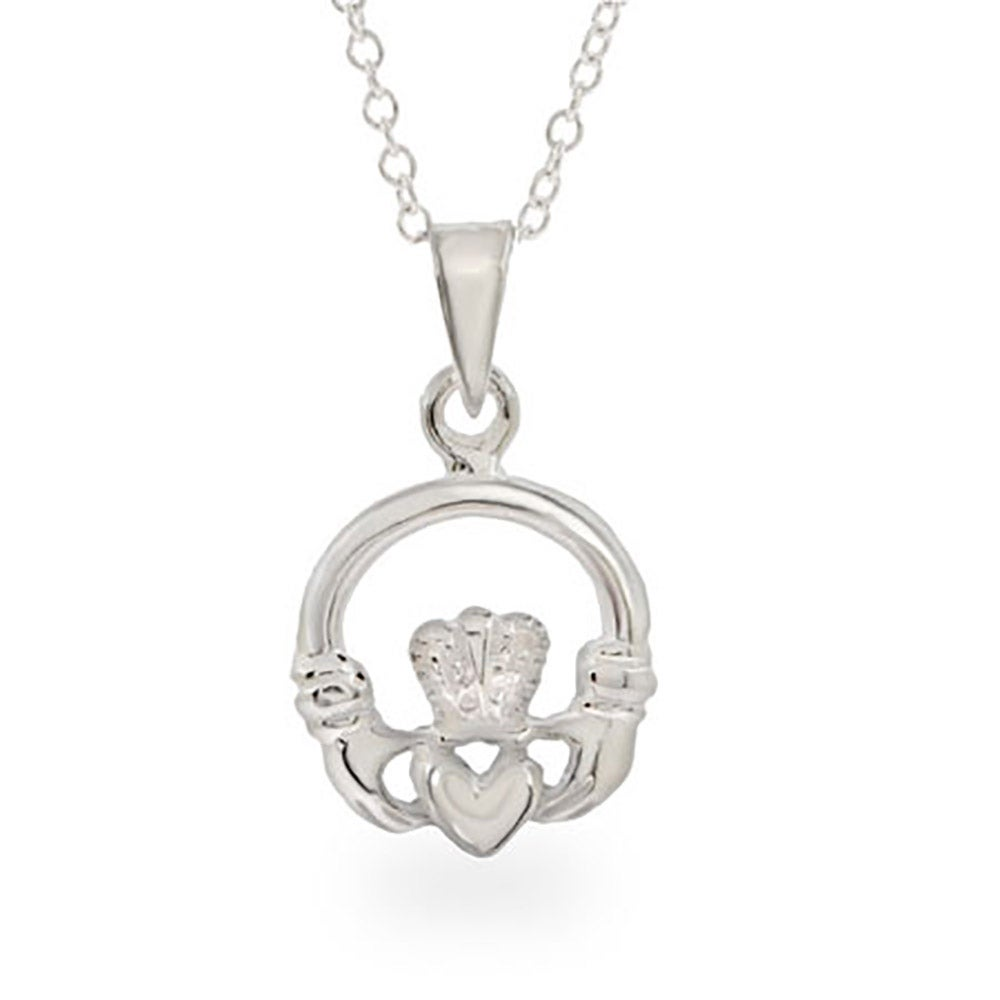 jewelry celtic heart locket bling silver claddagh pmr necklace oval pendant knot hands
