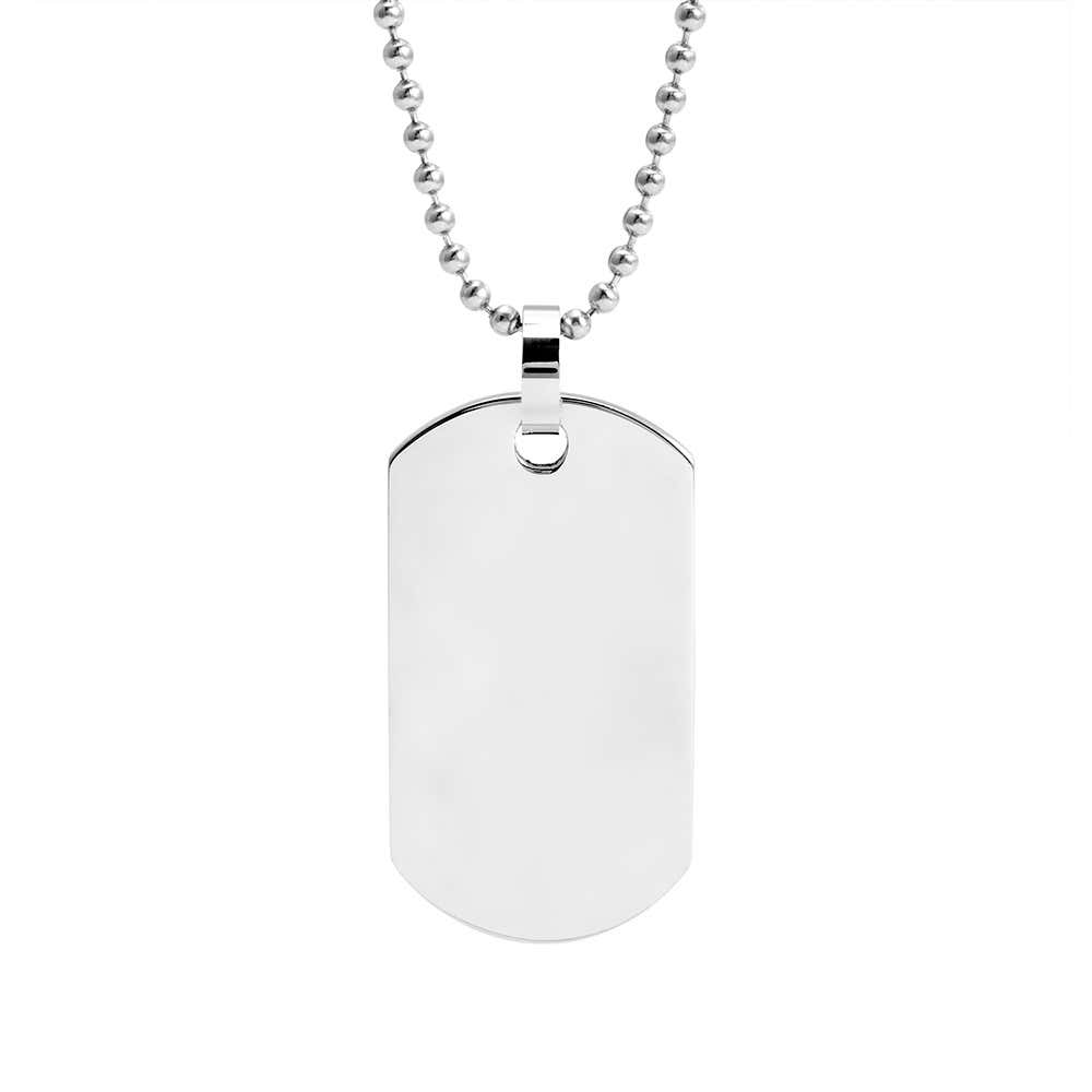 51d3730151dc Stainless Steel Dog Tag Necklace