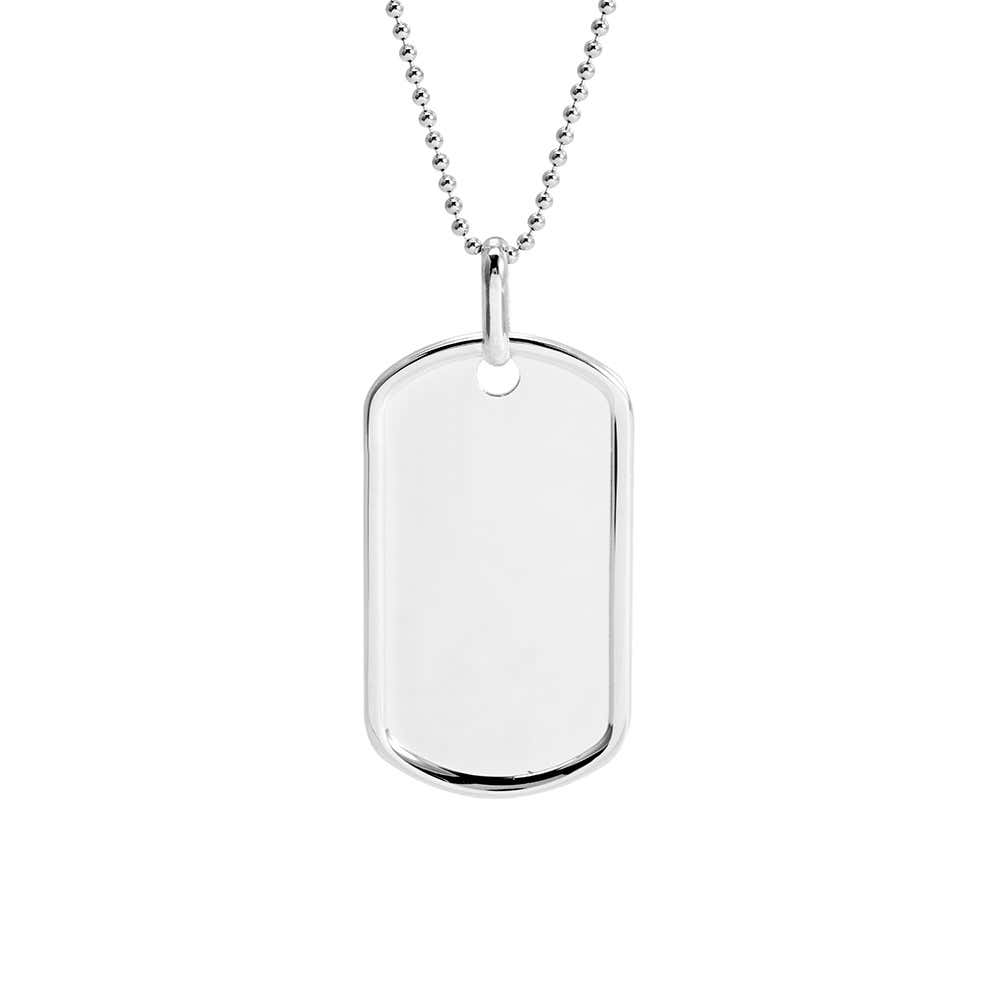 68330b35bd82 Medium Sterling Silver Dog Tag Pendant
