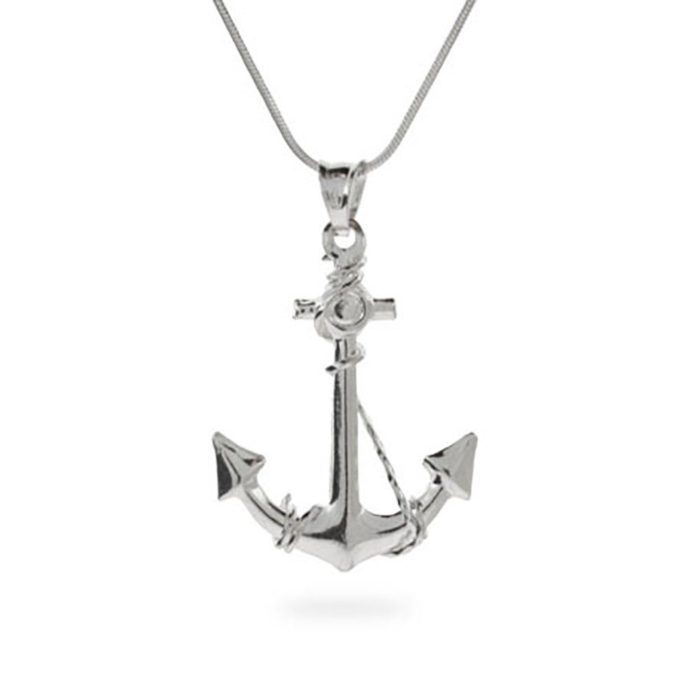 Sterling silver anchor pendant eves addiction sterling silver anchor necklace aloadofball Images