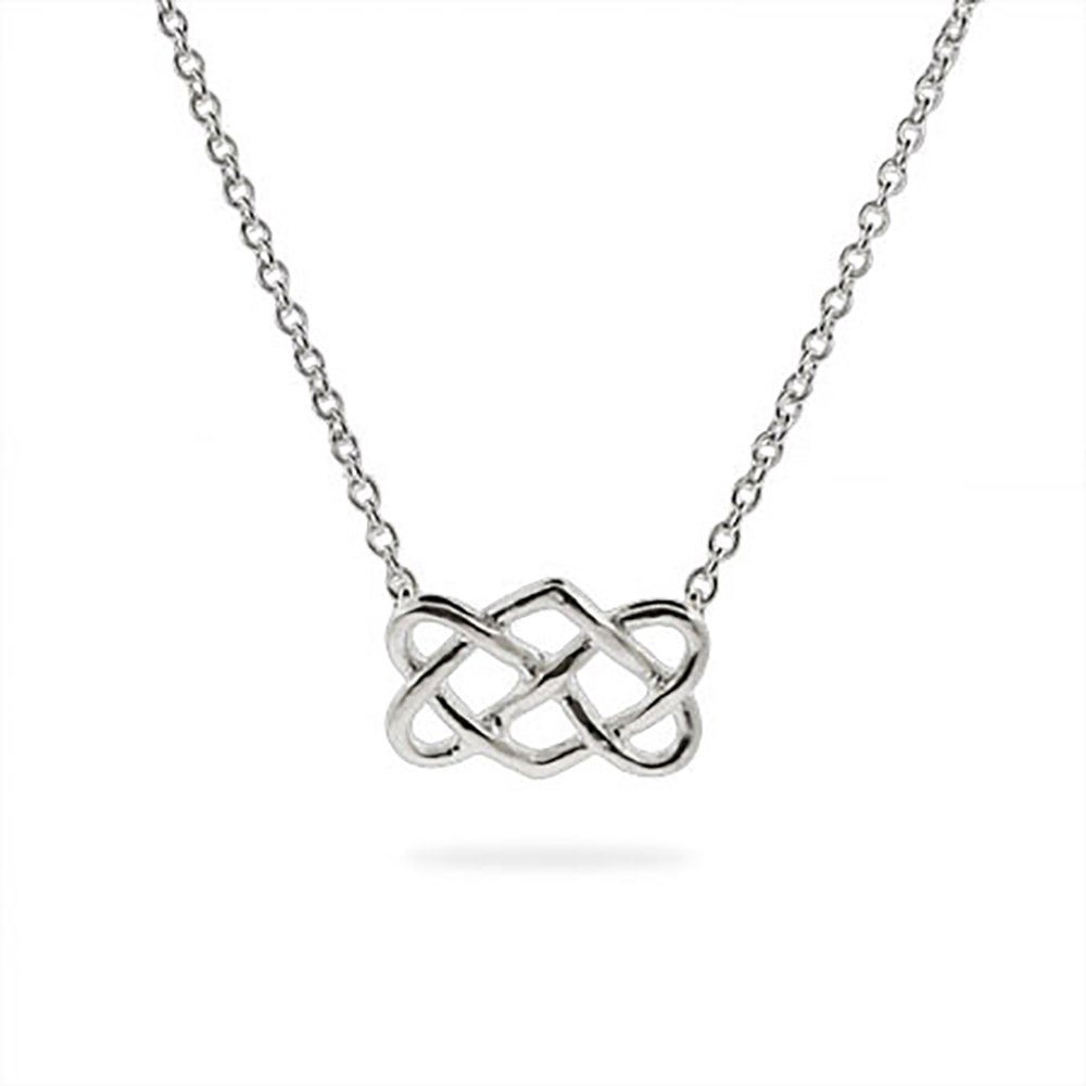 celtic plain which artisan pn crafted of products aeravida knot silver the corners necklaces has this details embodies design four quaternary sterling necklace eternity could