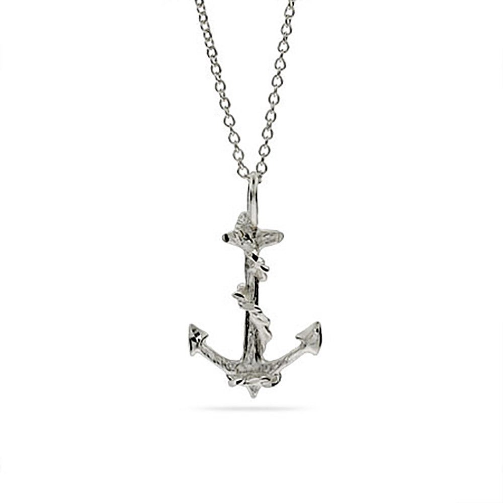 Silver anchor necklace eves addiction sterling silver anchor necklace aloadofball Images