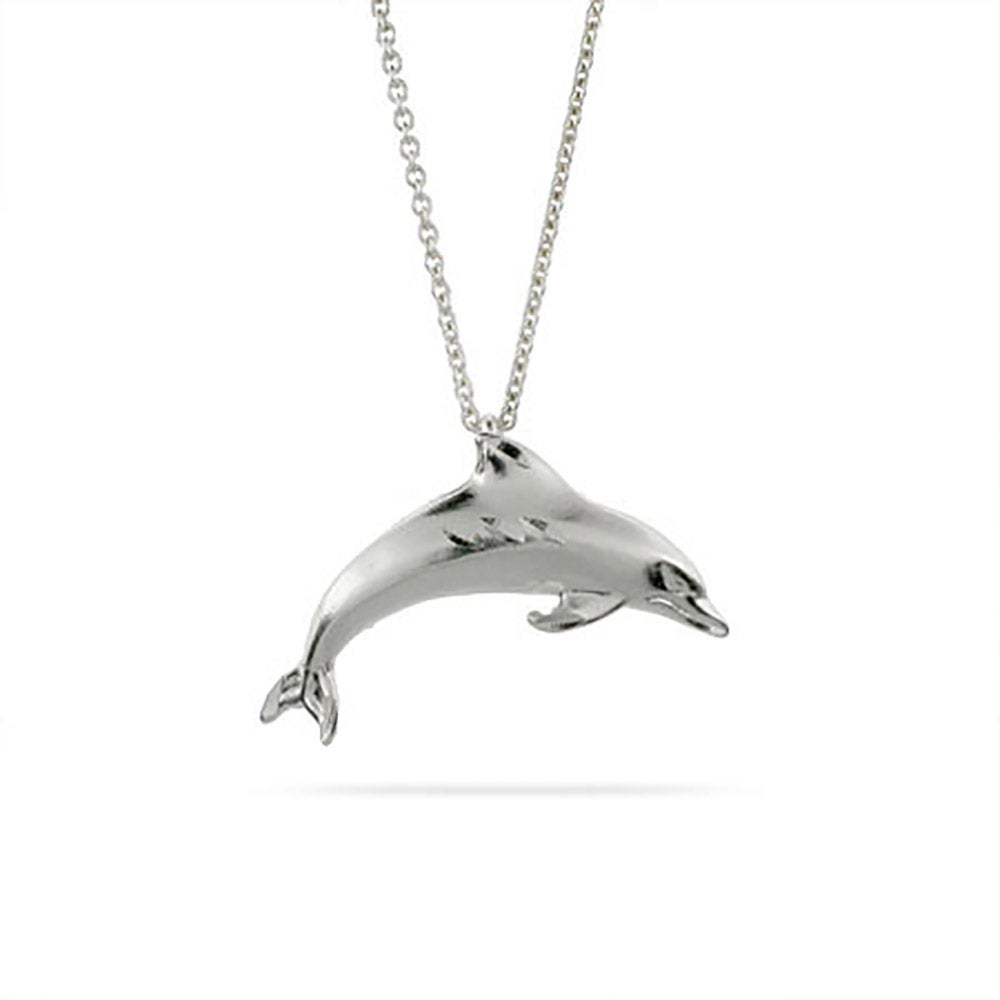 necklaces for sterling yourwishshop fashion stone genuine jewels red dolphin women orsa natrual silver pendant products