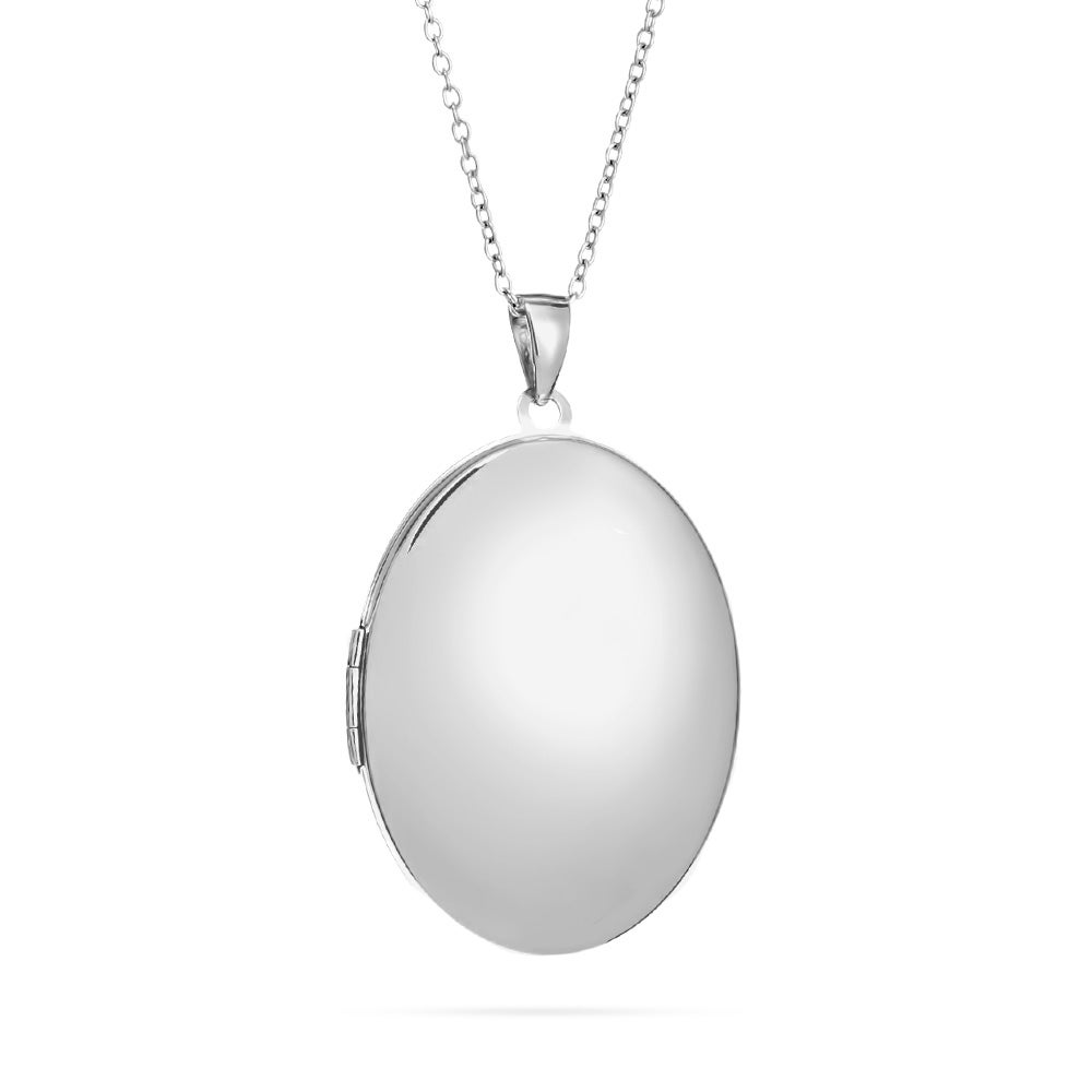 locket large sterling silver oval engravable lockets engraved