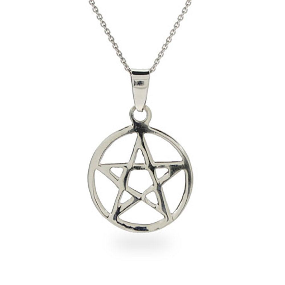 Sterling silver pentagram pendant aloadofball Images
