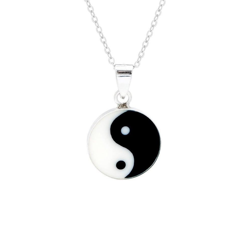 Silver yin yang pendant sterling silver yin yang necklace aloadofball Choice Image