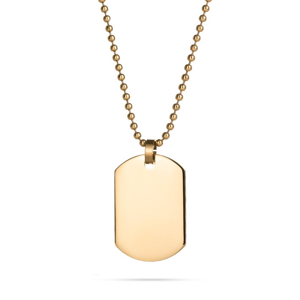 18K Gold Plated Small Dog Tag Eves Addiction