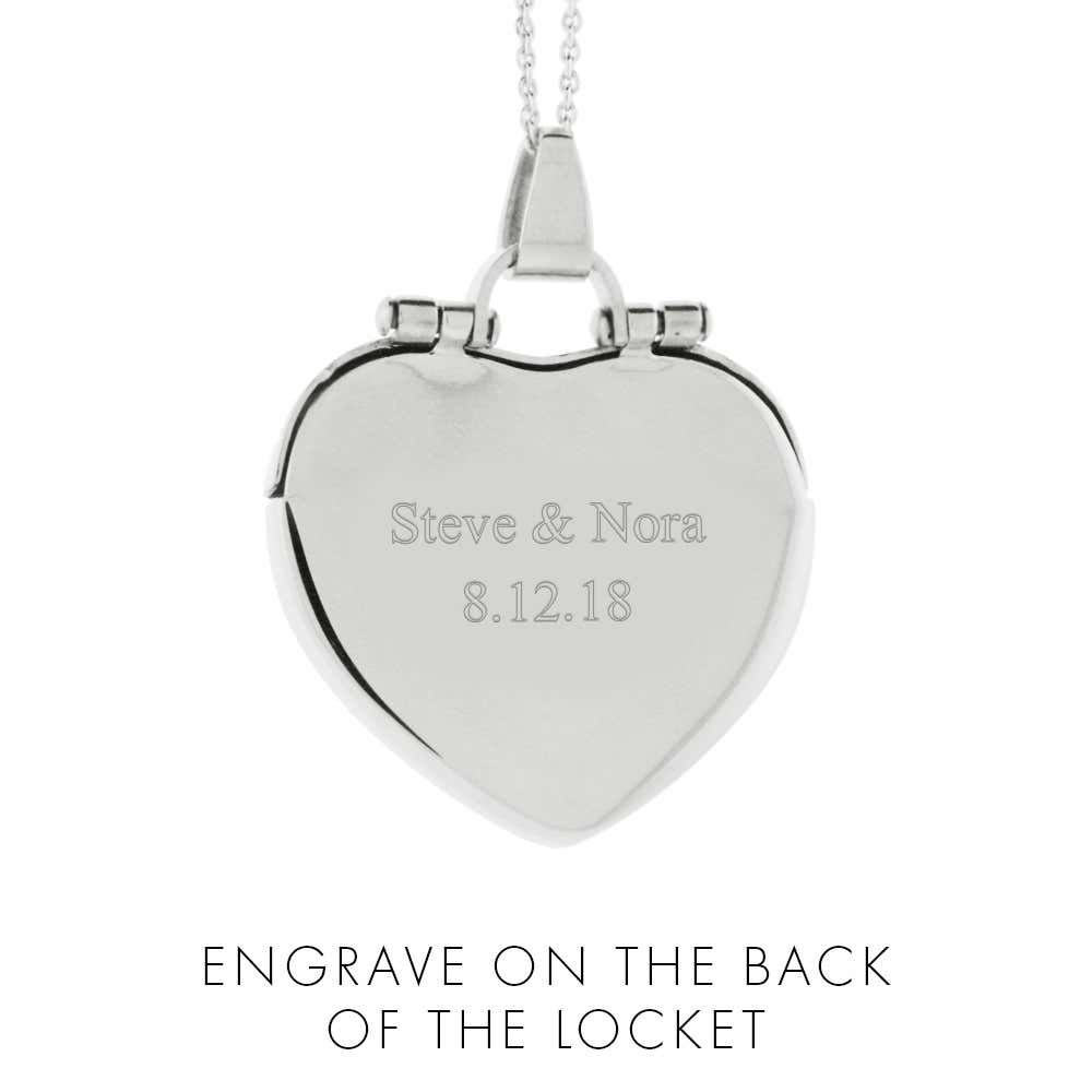 53378ff70 Engraved Envelope Heart Locket. Double Tap To Zoom