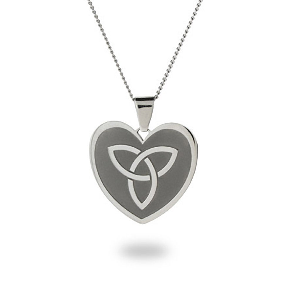 Engravable celtic knot heart necklace engravable celtic knot heart pendant aloadofball Images