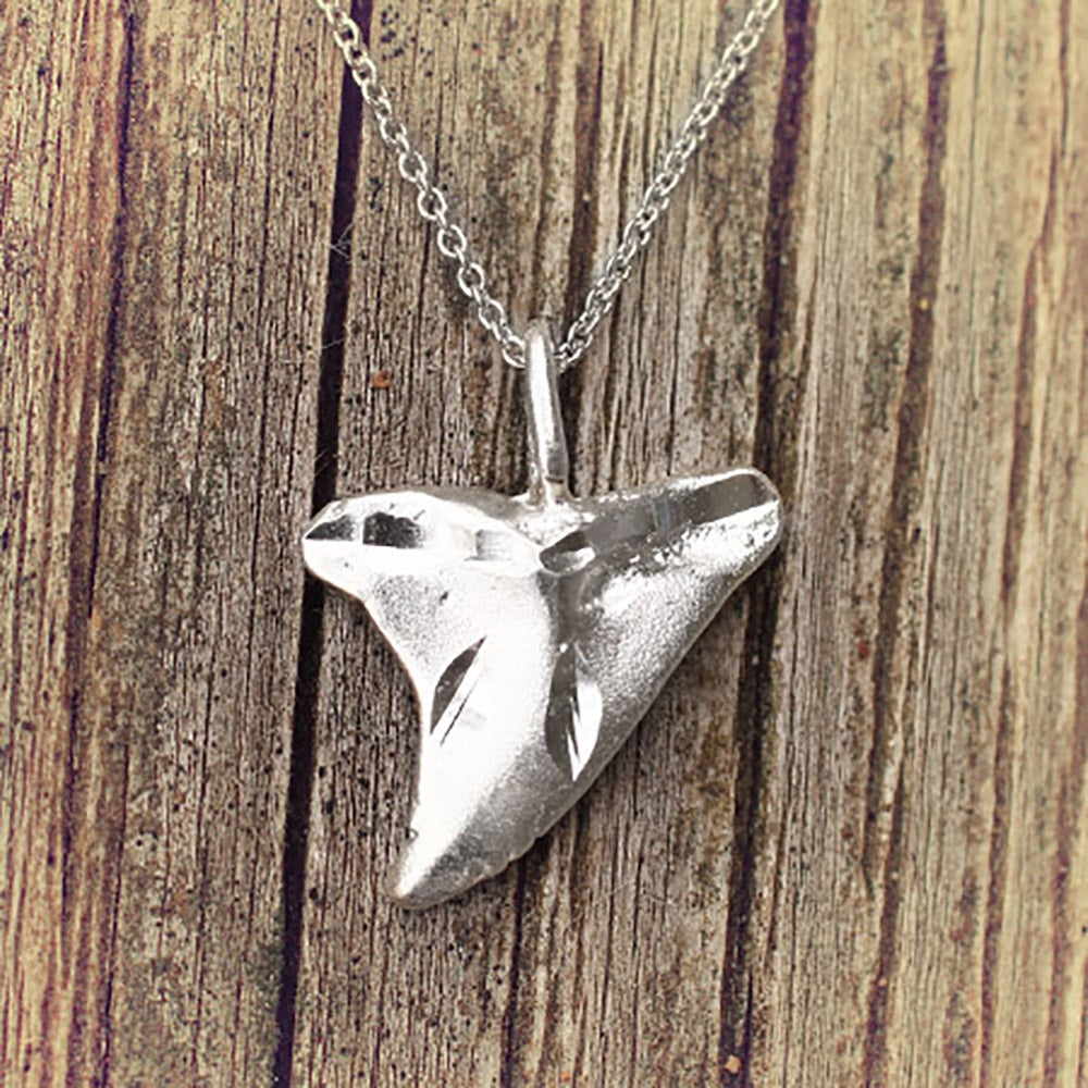 Sterling silver shark tooth necklace aloadofball Images
