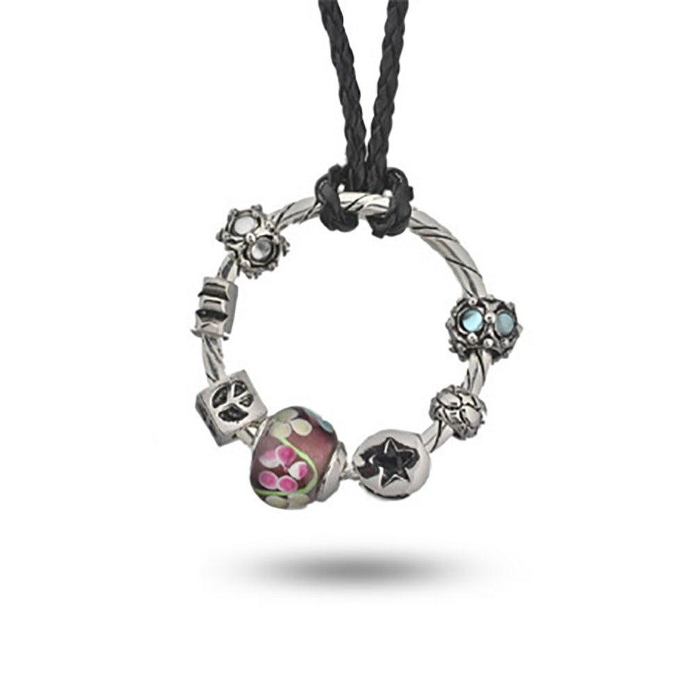 Your own oriana charm holder pendant oriana bead round charm holder pendant aloadofball Images