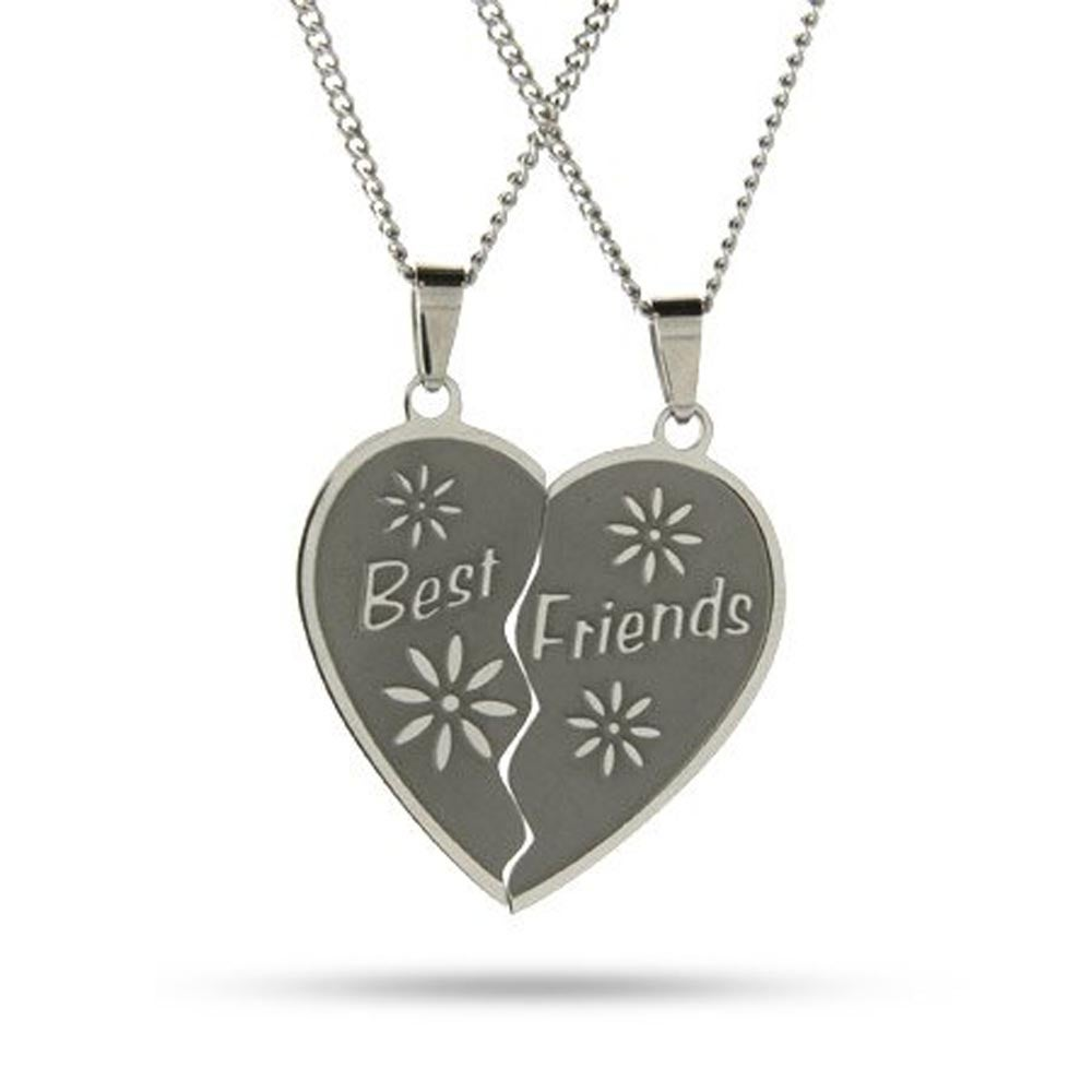 Friendship Pendant Necklace Engraved best friends necklaces set engravable best friends pendant set audiocablefo