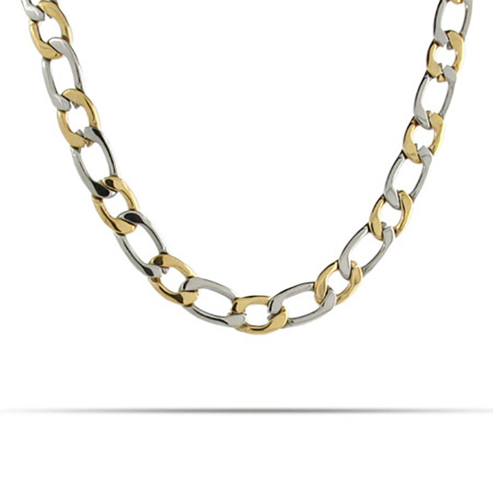 style js crown products tone graduated link gold int oval two necklace