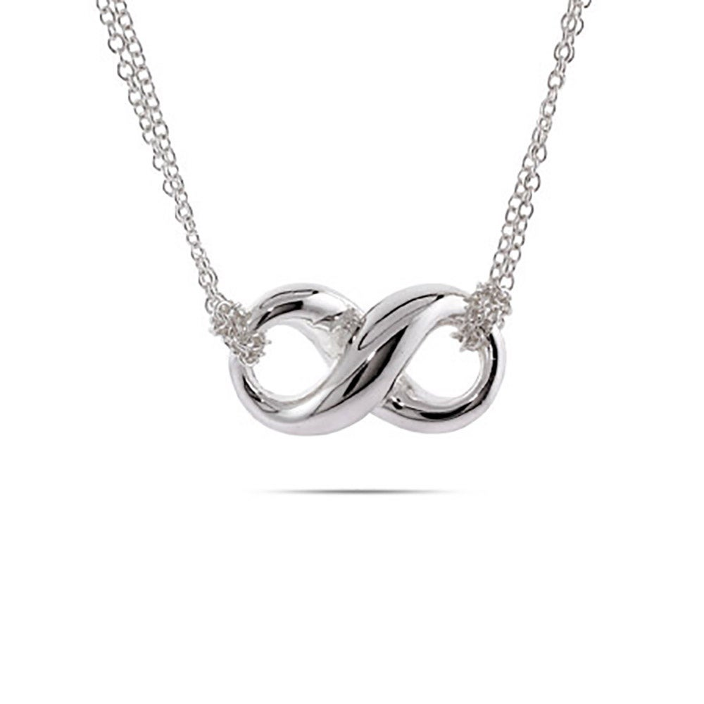 Designer Style Silver Infinity Necklace Eves Addiction