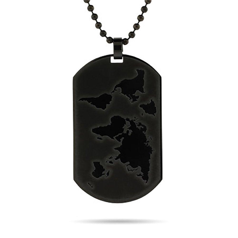 Engravable black plate global dog tag gumiabroncs Image collections