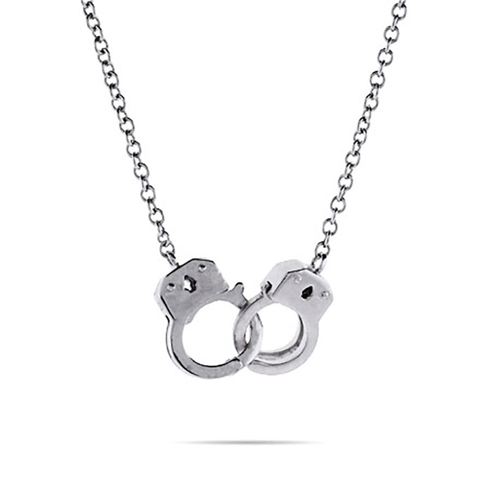 Sterling silver handcuff necklace eves addiction sterling silver handcuff necklace aloadofball Image collections