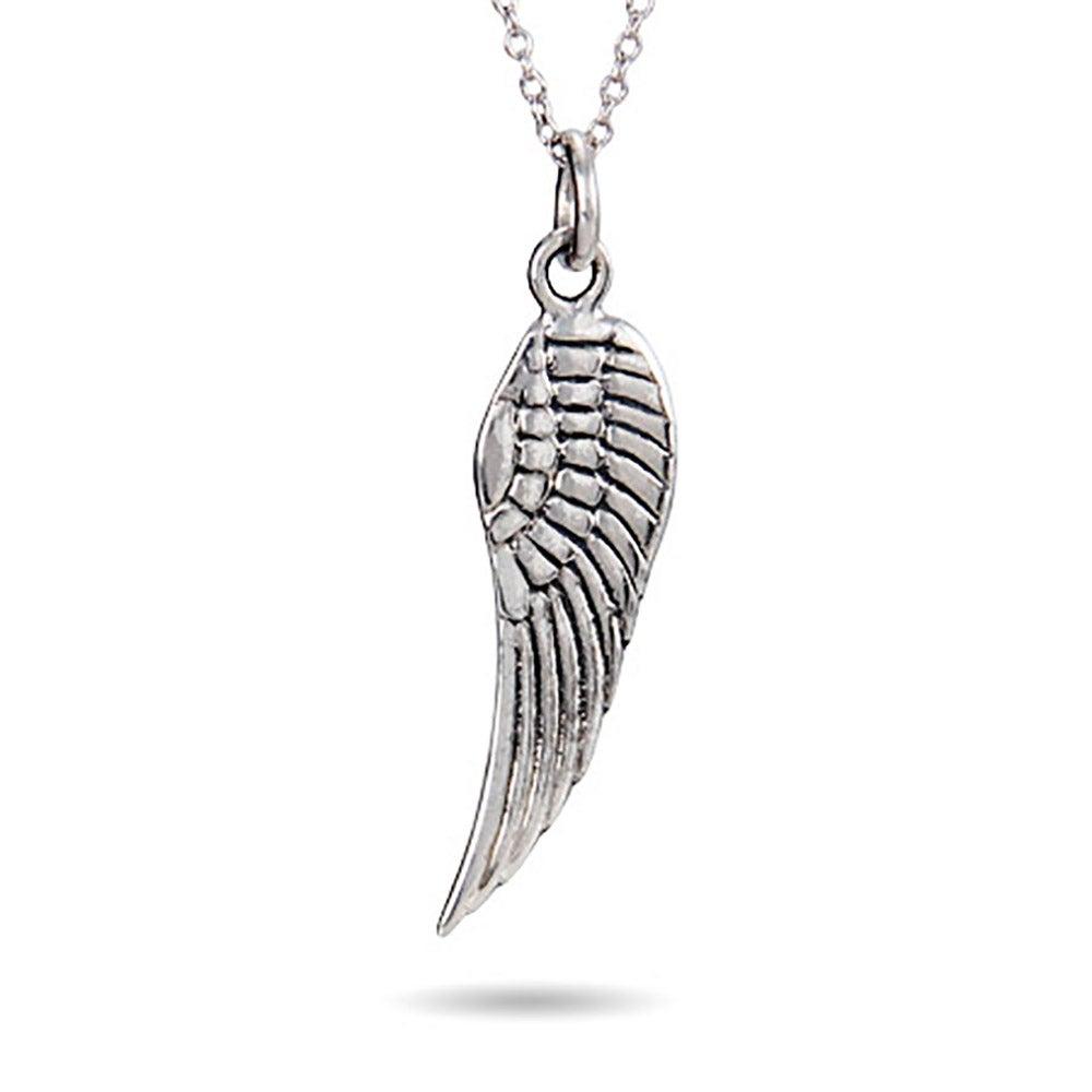 Silver angel wing pendant sterling silver angel wing pendant aloadofball Gallery